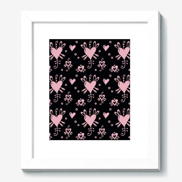 Картина «Розовое на черном.»