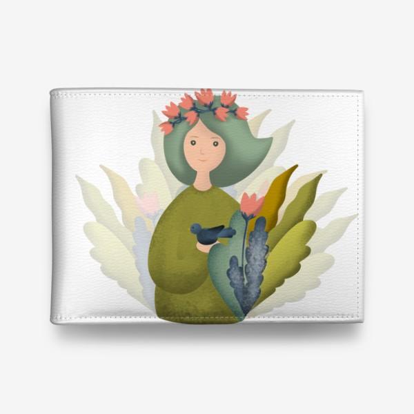 Кошелек «Девушка Природа Весна»