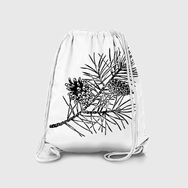 Рюкзак «Сосна в технике линогравюра-2»