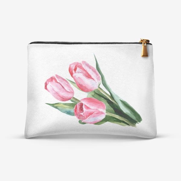 Косметичка «Розовые тюльпаны»