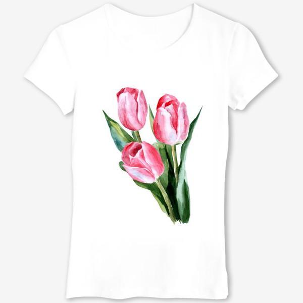 Футболка «Розовые тюльпаны»