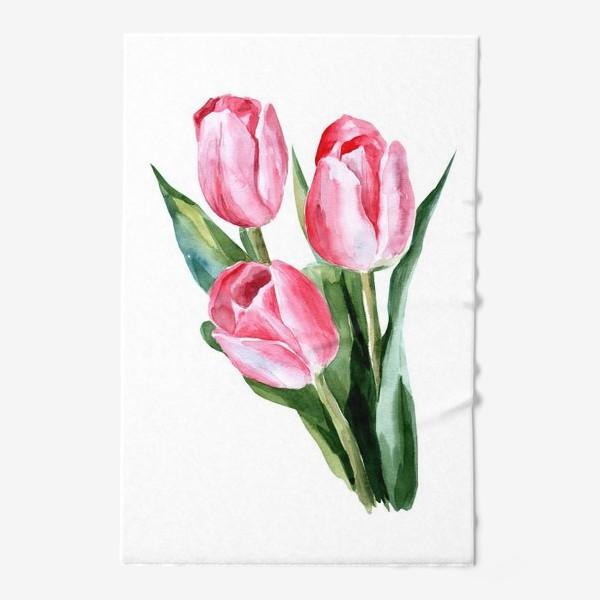 Полотенце «Розовые тюльпаны»