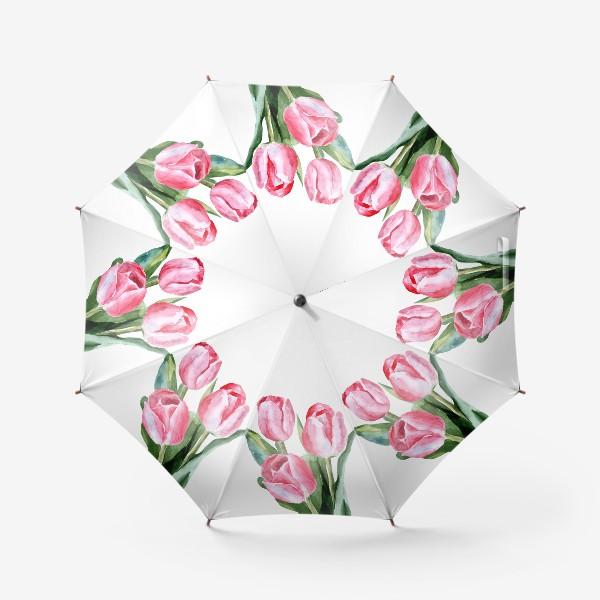 Зонт «Розовые тюльпаны»