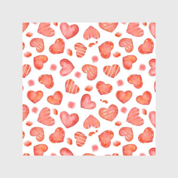 Скатерть «Сердце. паттерн, акварель»