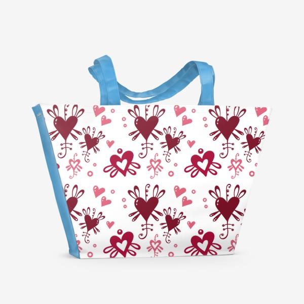 Пляжная сумка «С днем святого Валентина. »