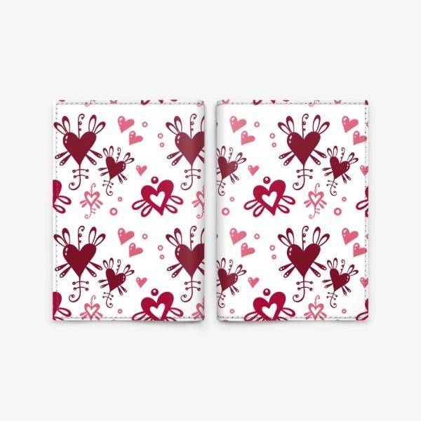 Обложка для паспорта «С днем святого Валентина. »
