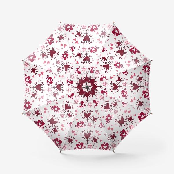 Зонт «С днем святого Валентина. »