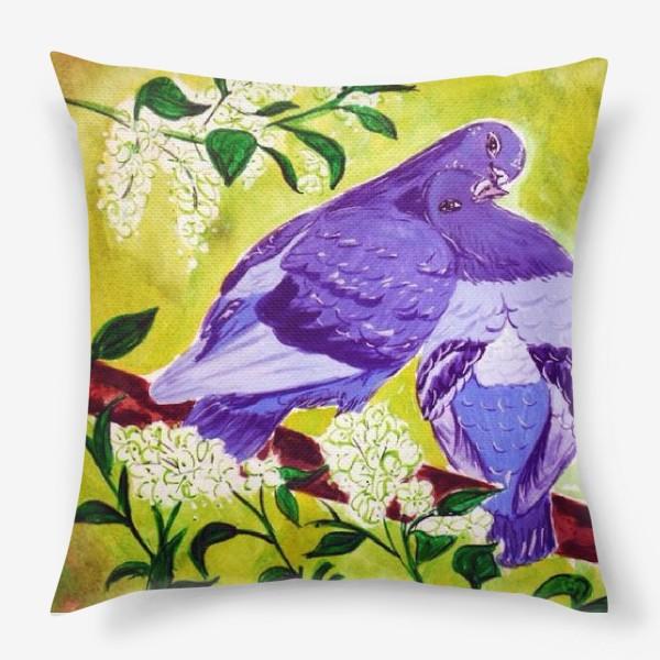 Подушка «Голуби»