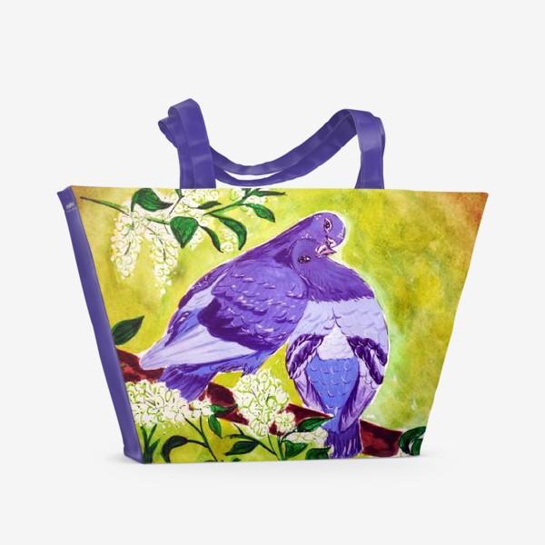 Пляжная сумка «Голуби»
