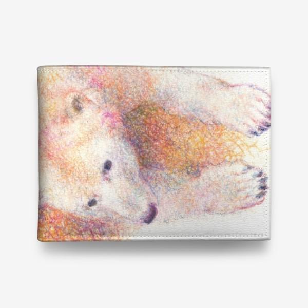 Кошелек «Белые медведи, мишки, семья, любовь»