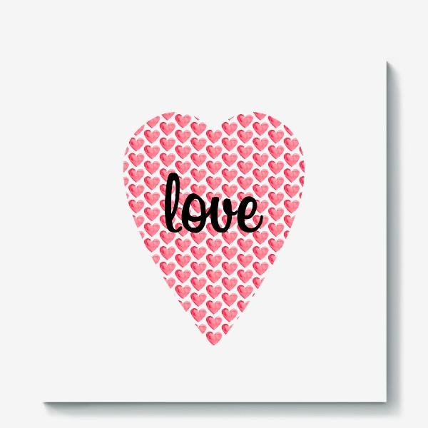 "Холст «Сердце с надписью ""Love""»"