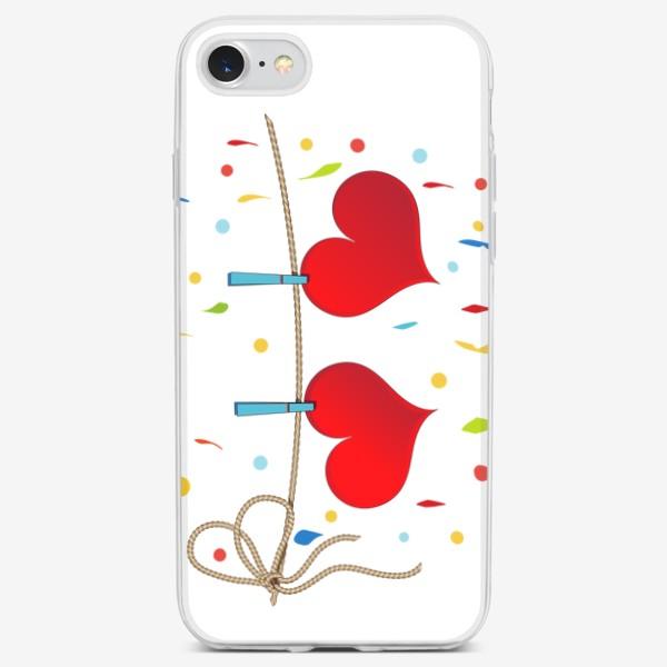 Чехол iPhone «Два сердца на веревочке»