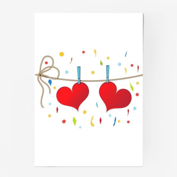 Постер «Два сердца на веревочке»
