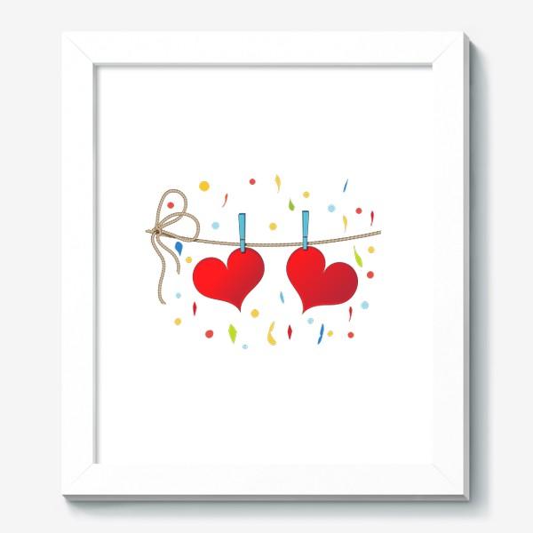 Картина «Два сердца на веревочке»