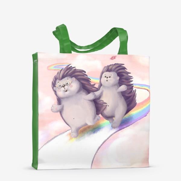 Сумка-шоппер «Ёжики - Мечты на радуге»