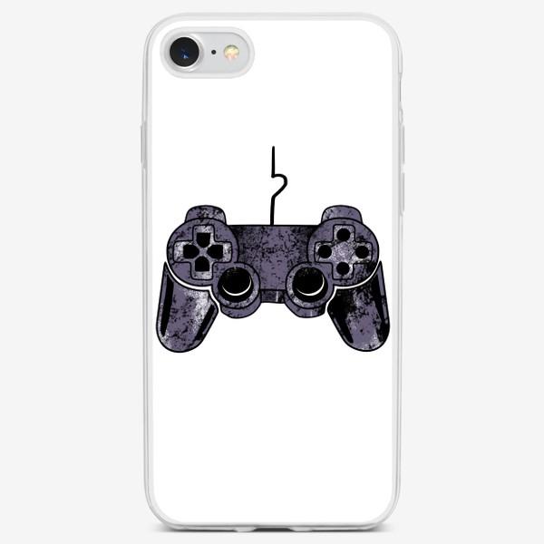 Чехол iPhone «Геймпад для неё. Парный принт на 14 февраля для влюбленных»