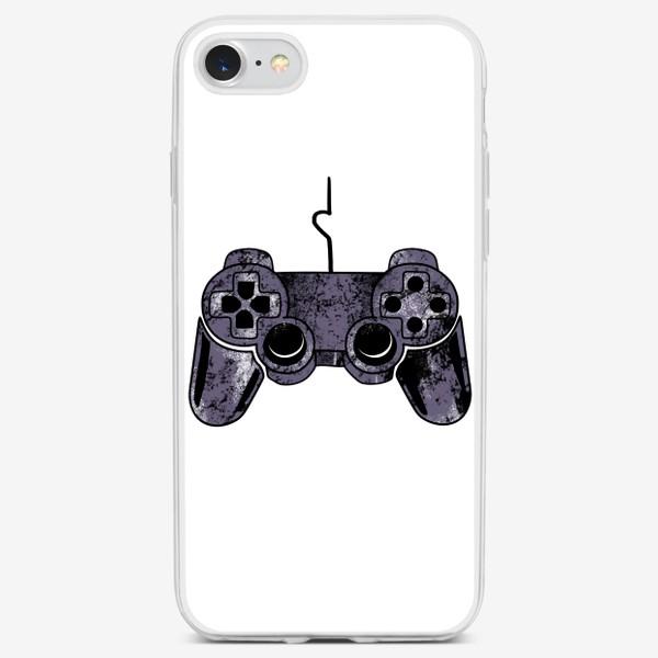 Чехол iPhone «Геймпад для него. Парный принт на 14 февраля для влюбленных»