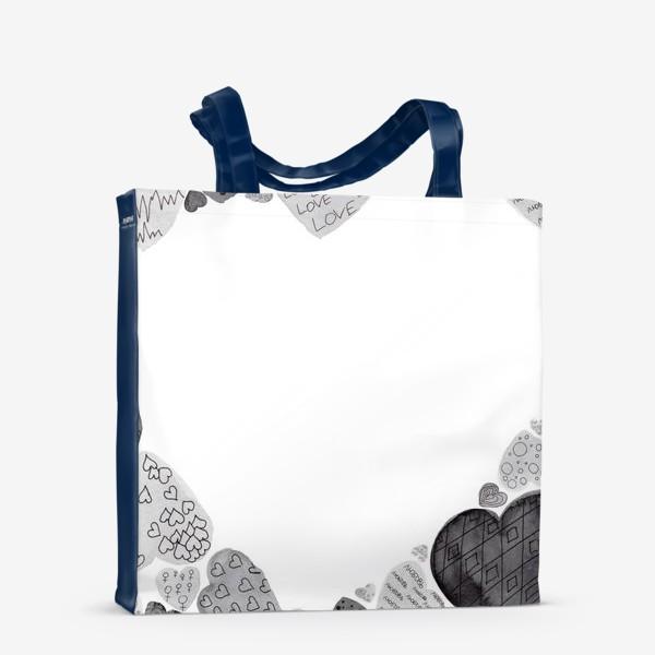 Сумка-шоппер «Сердечная рамка»