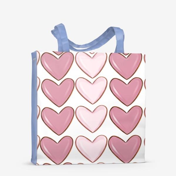 Сумка-шоппер «Сердца паттерн»
