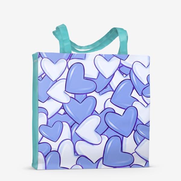Сумка-шоппер «Синие сердца»