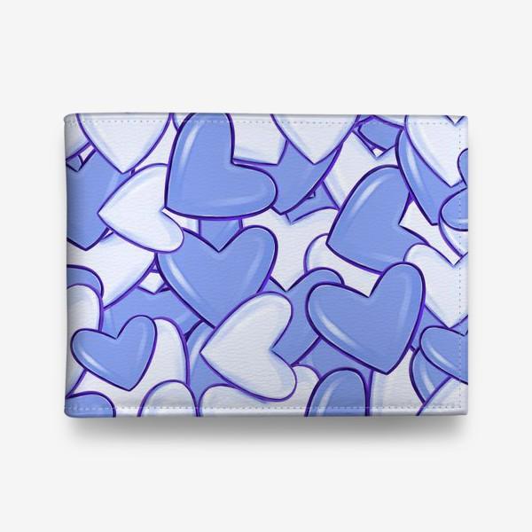 Кошелек «Синие сердца»
