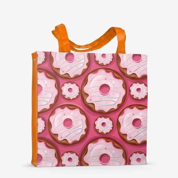 Сумка-шоппер «Розовые пончики»