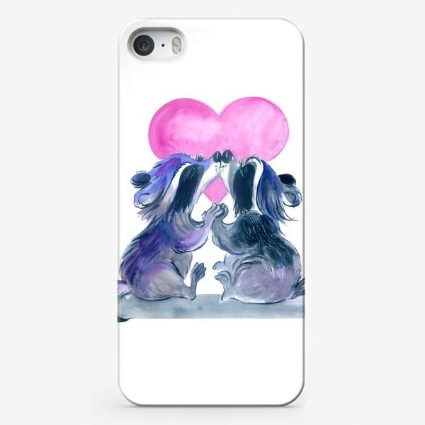 Чехол iPhone «влюбленные еноты»