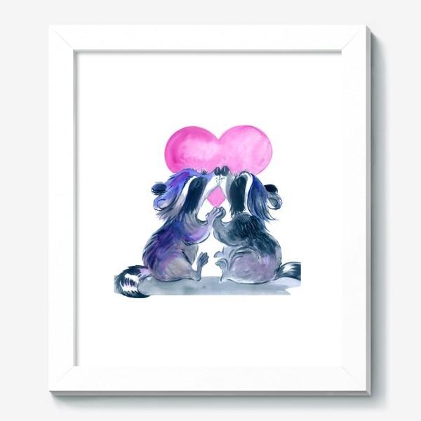 Картина «влюбленные еноты»