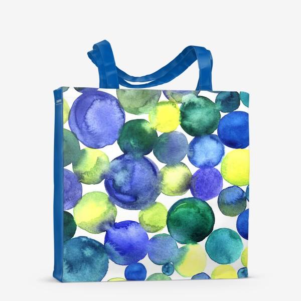 Сумка-шоппер «Цветные акварельные круги»