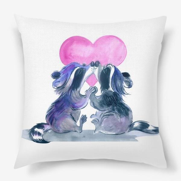 Подушка «влюбленные еноты»