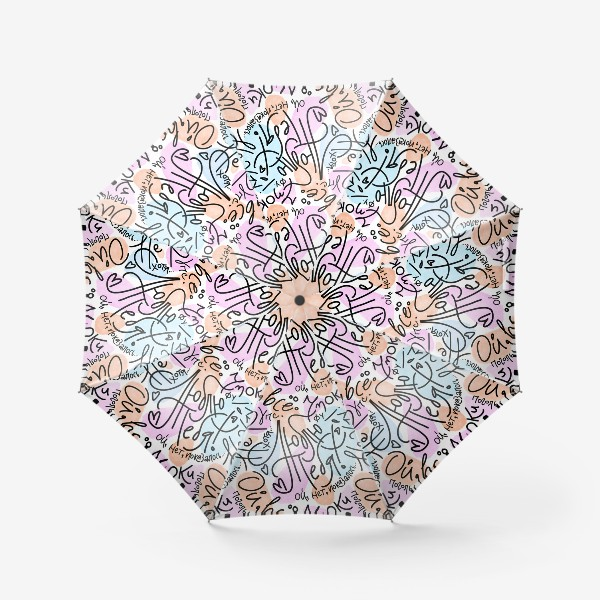 Зонт «Люблю тебя! ой, показалось»