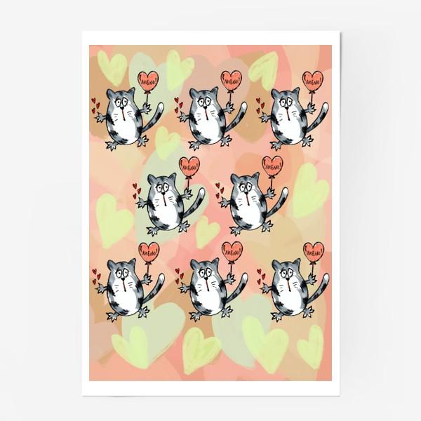 Постер «Люблю! Признание. Летящие коты. День Влюблённых »