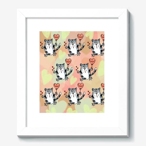 Картина «Люблю! Признание. Летящие коты. День Влюблённых »
