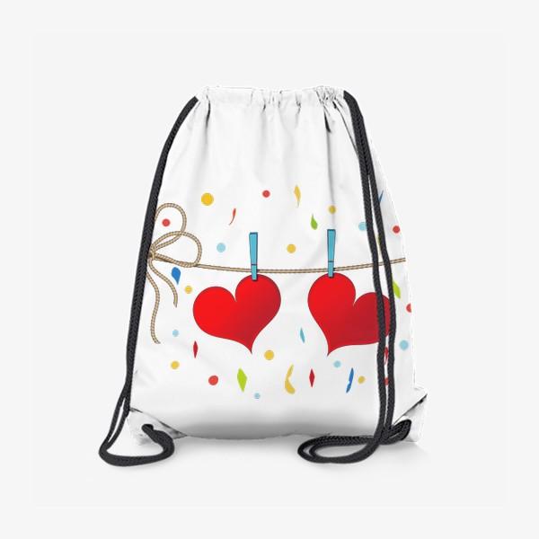 Рюкзак «Два сердца на веревочке»