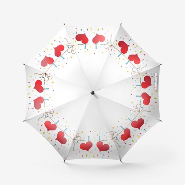 Зонт «Два сердца на веревочке»