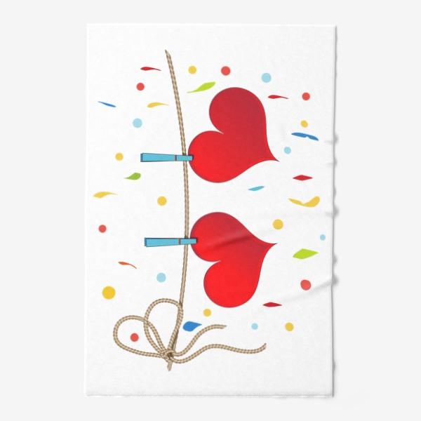 Полотенце «Два сердца на веревочке»