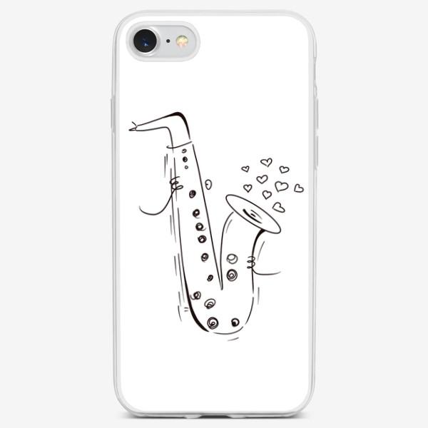 Чехол iPhone «День Святого Валентина. Любовь. Музыка. »