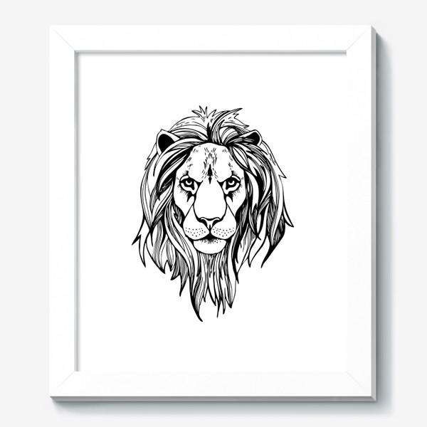 Картина «Лев. Графика»