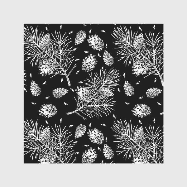Скатерть «Сосна в технике линогравюра-5»