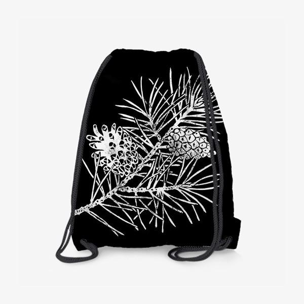 Рюкзак «Сосна в технике линогравюра-4»