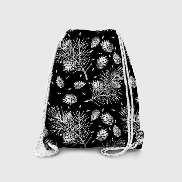 Рюкзак «Сосна в технике линогравюра-5»