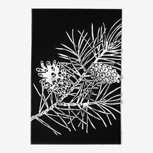 Полотенце «Сосна в технике линогравюра-4»