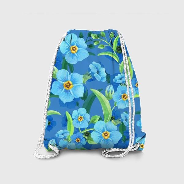 Рюкзак «Незабудки на синем»