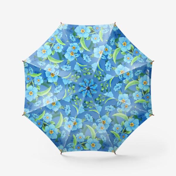 Зонт «Незабудки на синем»