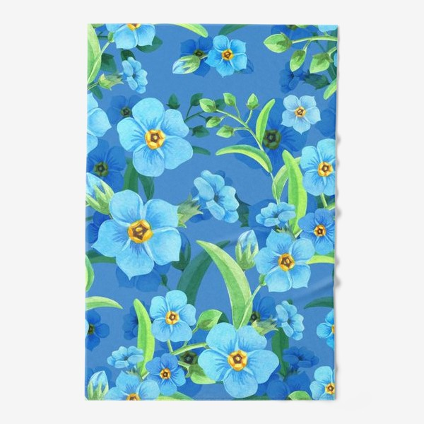 Полотенце «Незабудки на синем»