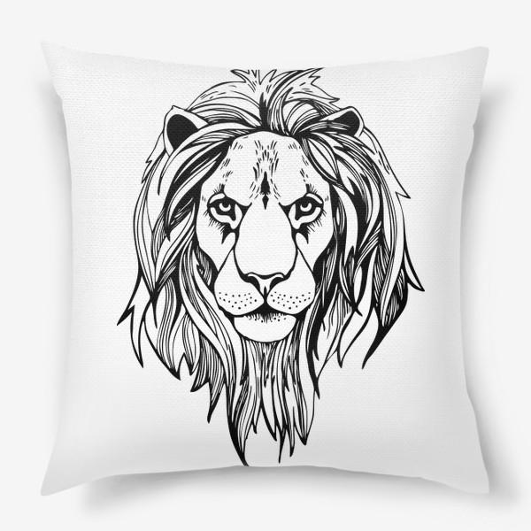 Подушка «Лев. Графика»