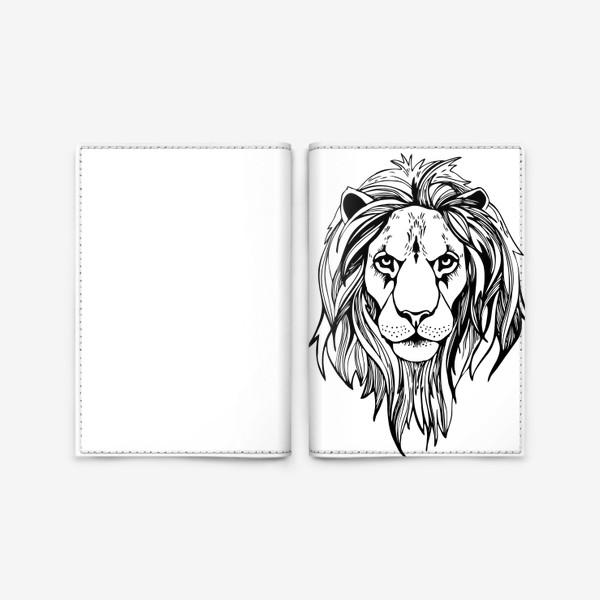 Обложка для паспорта «Лев. Графика»