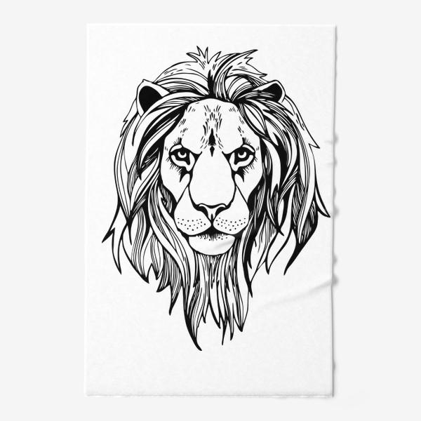 Полотенце «Лев. Графика»