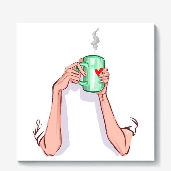 Холст «Утренний кофе 3»