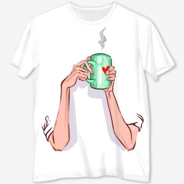 Футболка с полной запечаткой «Утренний кофе 3»